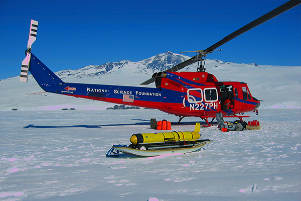 NSF Helicopter and Glider in Antarctica