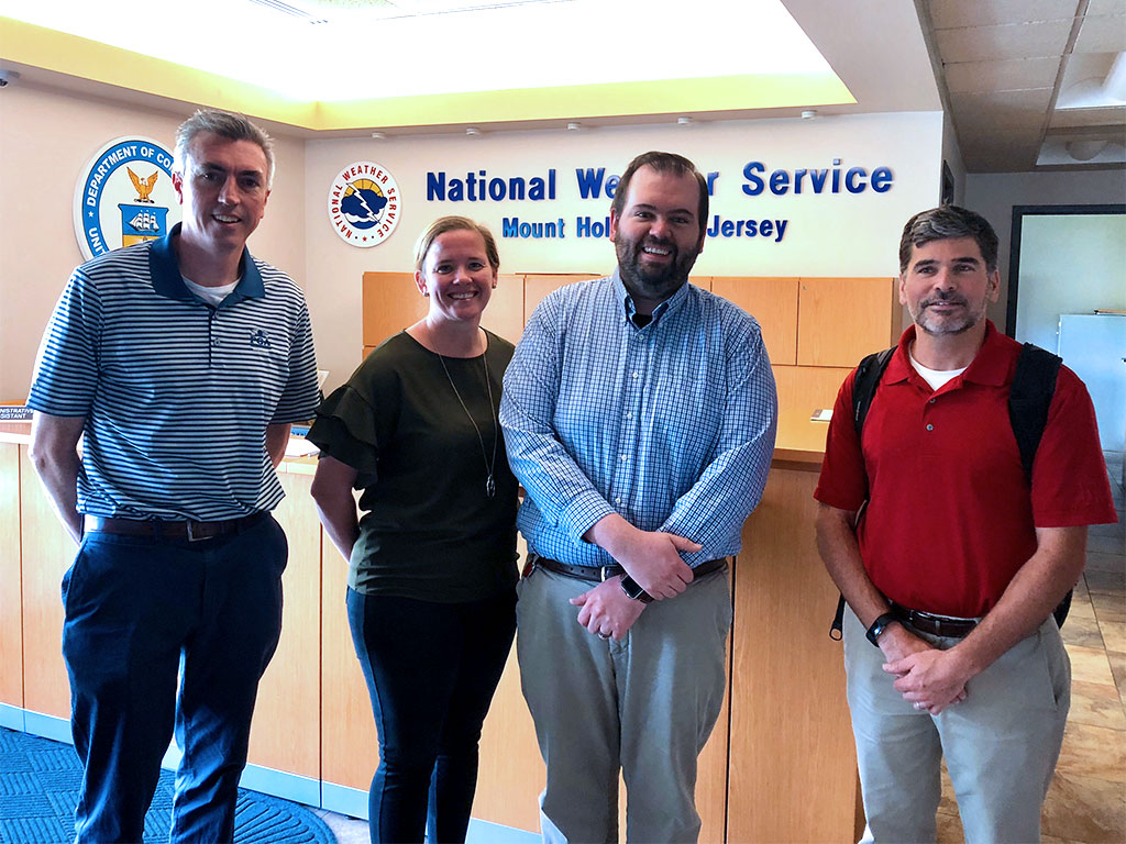 Dr. Hugh Roarty, Ms. Mary Yates, Dr. Joseph Brodie and Dr. Josh Kohut at the National Weather Service on 05/2018