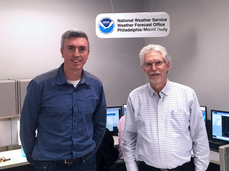 Dr. Hugh Roarty and Mr. Al Cope at the National Weather Service on 02/2018