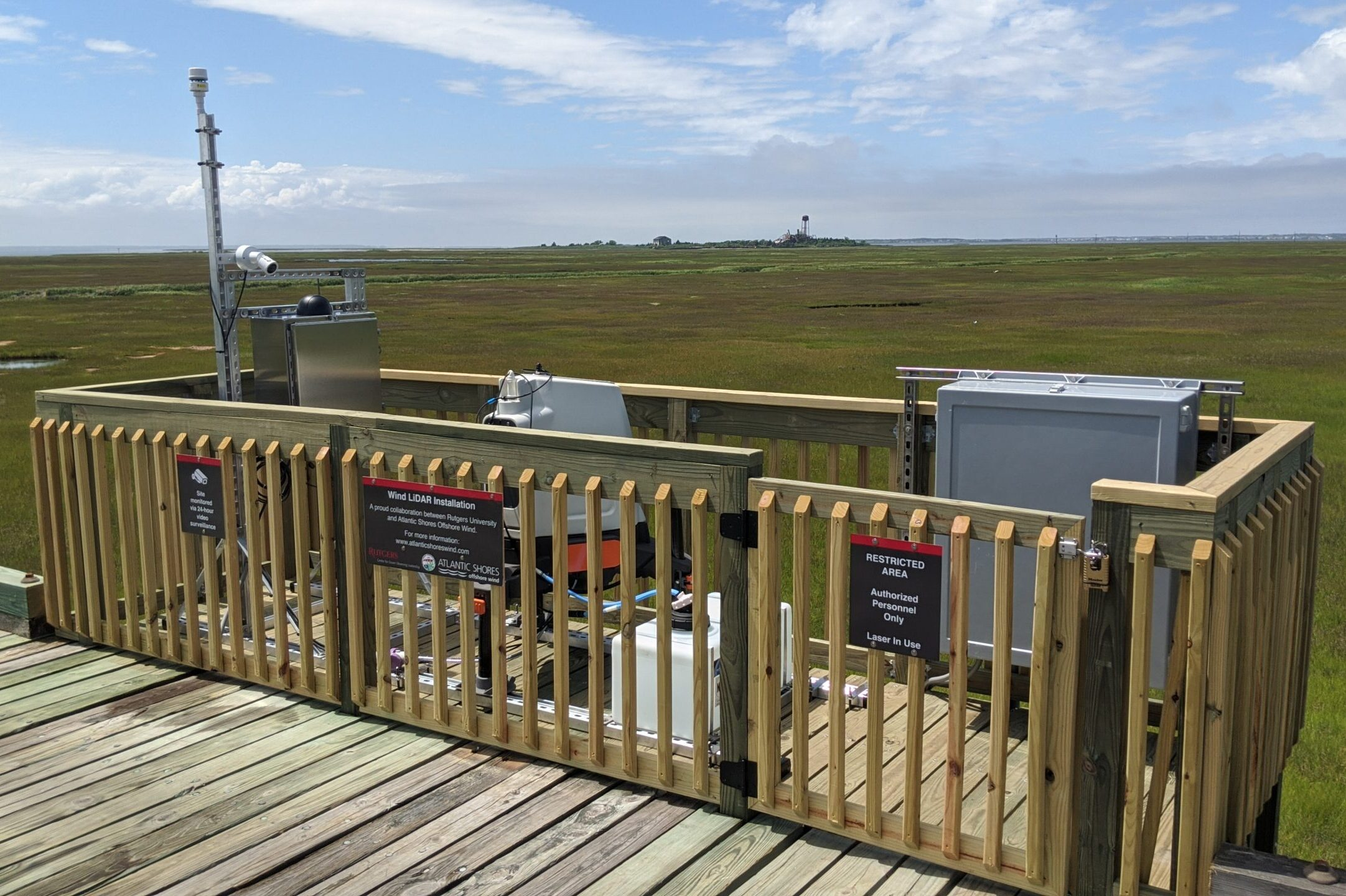 Rutgers and Atlantic Shores Deploy Wind Lidar