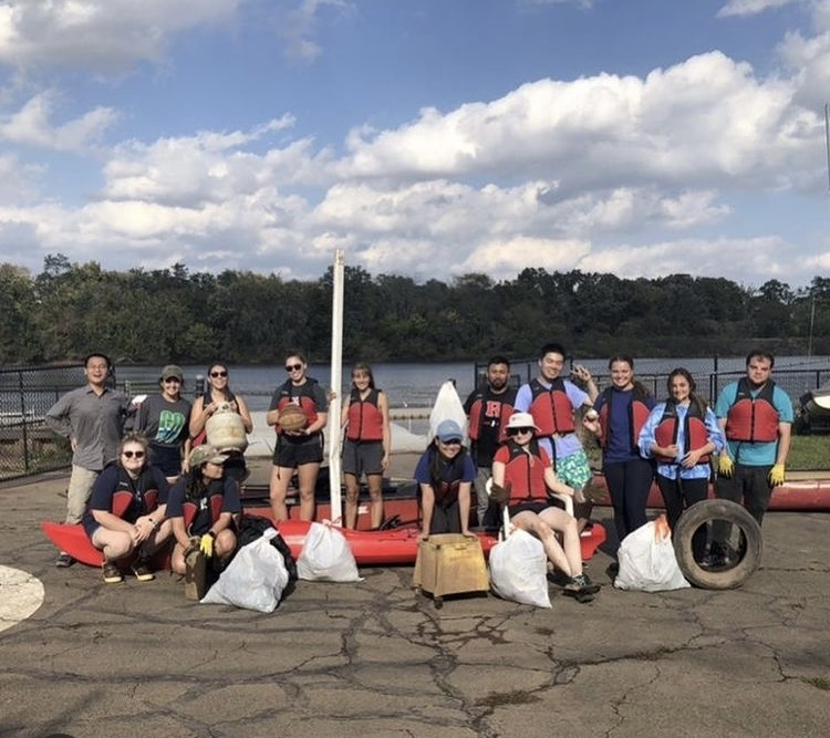 This past weekend, the DMCS graduate and undergraduate students partnered with RU Adventure Recreation to clean up the Raritan!